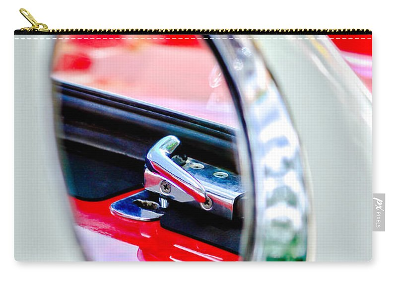 1956 Ford Thunderbird Latch Carry-all Pouch featuring the photograph 1956 Ford Thunderbird Latch -417c by Jill Reger