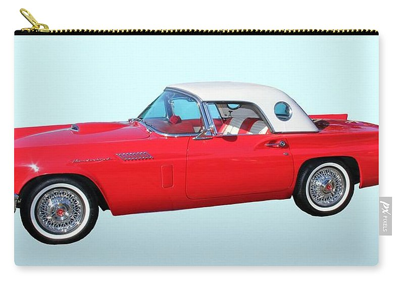 1957 Ford Thunderbird Carry-all Pouch featuring the photograph 1957 Ford Thunderbird by Aaron Berg
