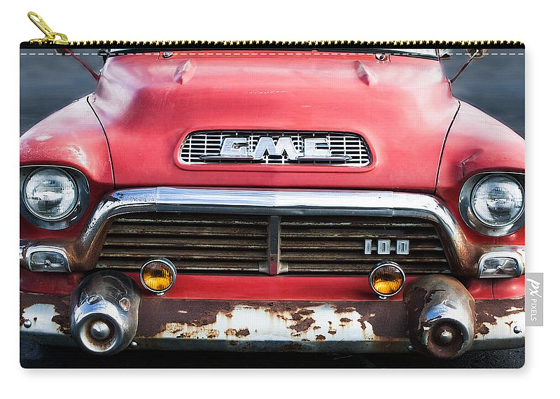 1957 Gmc V8 Pickup Truck Grille Emblem Carry All Pouch For Sale By