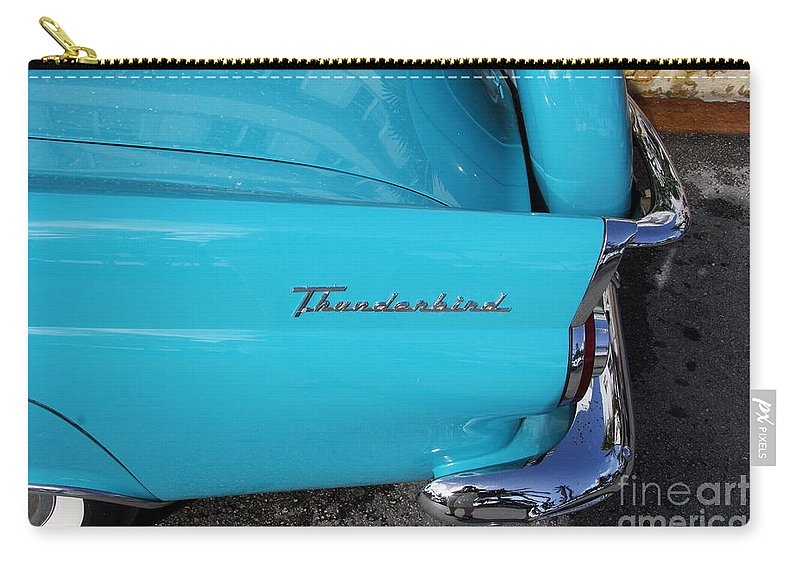 Ford Carry-all Pouch featuring the photograph 1958 Ford Thunderbird Detail by Christiane Schulze Art And Photography