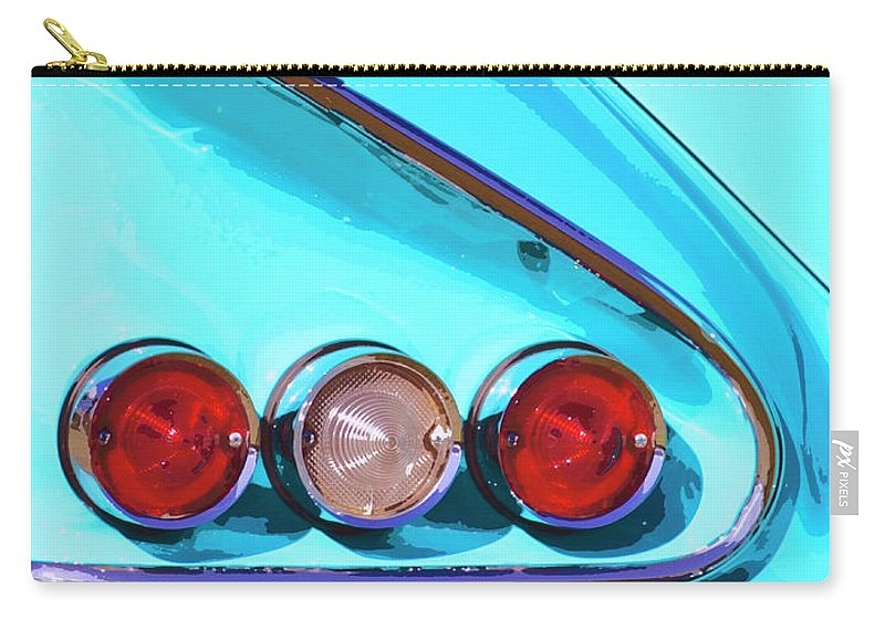 Palm Springs Carry-all Pouch featuring the photograph 1958 Impala Palm Springs by William Dey