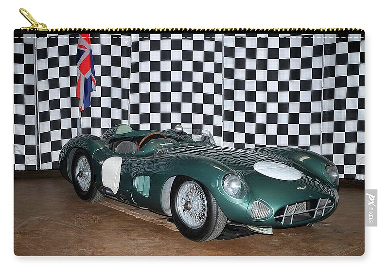 1959 Aston Martin Dbr1 Carry-all Pouch featuring the photograph 1959 Aston Martin Dbr1 by Boris Mordukhayev