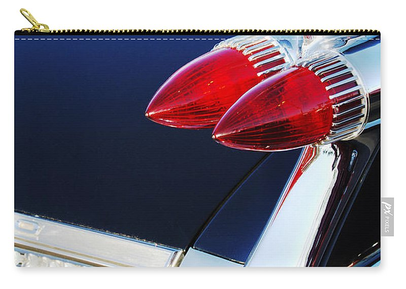 1959 Cadillac Eldorado Taillight Carry-all Pouch featuring the photograph 1959 Cadillac Eldorado Taillight -075c by Jill Reger