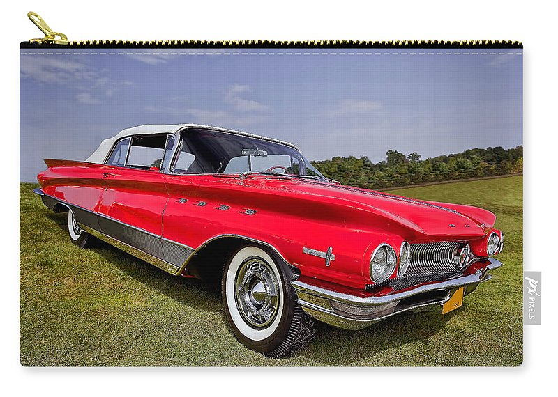 Transportation Carry-all Pouch featuring the photograph 1960 Buick Electra 225 by Marcia Colelli