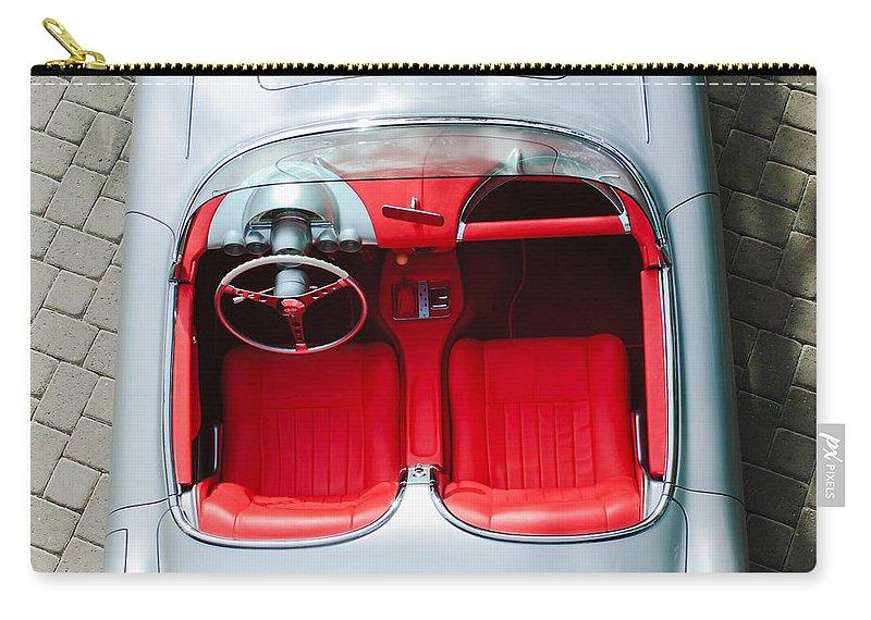 1960 Chevrolet Corvette Interior Carry-all Pouch featuring the photograph 1960 Chevrolet Corvette Interior by Jill Reger