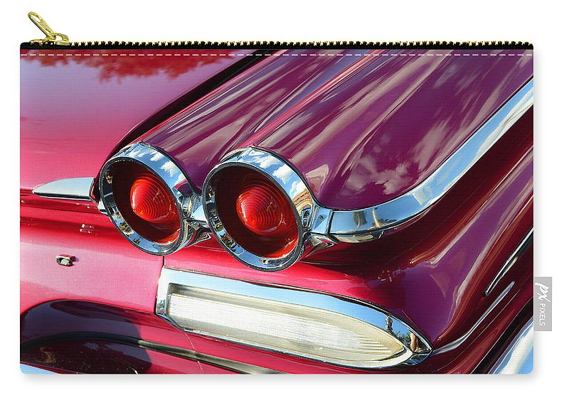Fine Art Photography Carry-all Pouch featuring the photograph 1960 Jet Engine Styling by David Lee Thompson