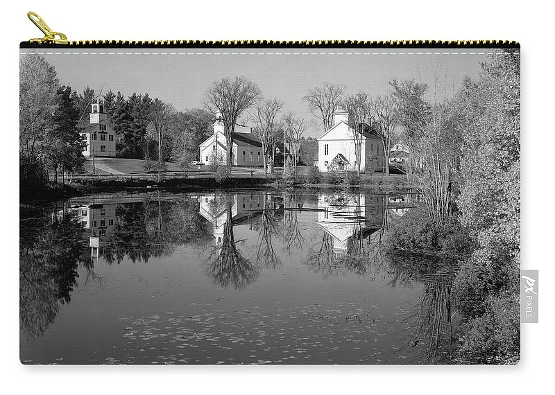 Photography Carry-all Pouch featuring the photograph 1960s 1950s Small Town White Public by Vintage Images