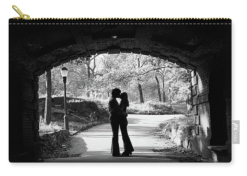 Photography Carry-all Pouch featuring the photograph 1960s Silhouette Of Anonymous Young by Vintage Images