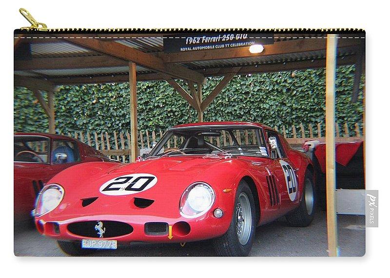 Ferrari Gto Carry-all Pouch featuring the photograph 1962 Ferrari 250 Gto by Robert Phelan