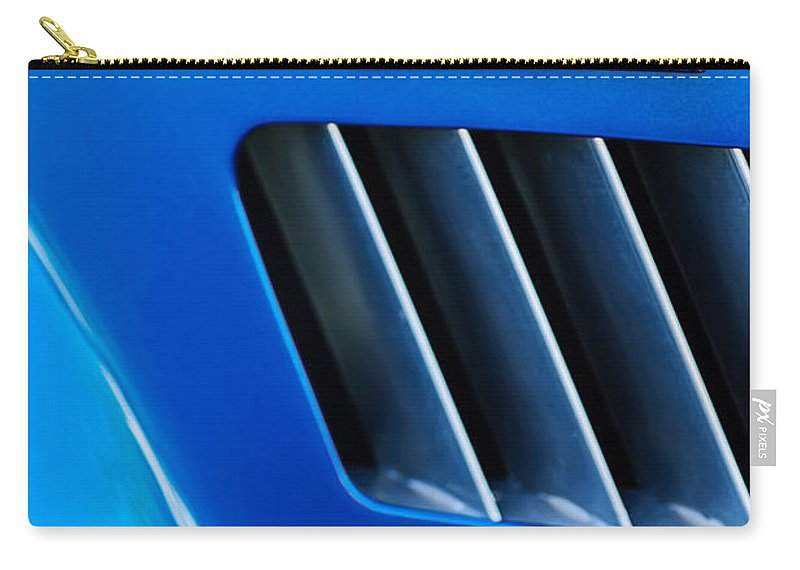 1965 Shelby Cobra 427 Emblem Carry-all Pouch featuring the photograph 1965 Shelby Cobra 427 Emblem by Jill Reger