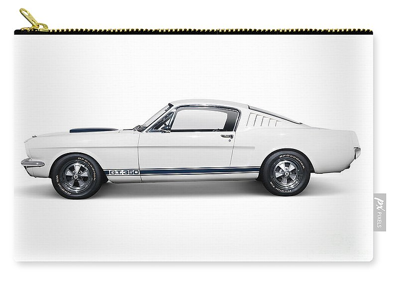 Sports Car Carry-all Pouch featuring the photograph 1965 Shelby Gt350 Mustang Retro Sports Car by Oleksiy Maksymenko