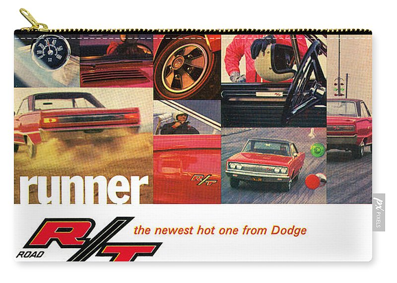 1967 Carry-all Pouch featuring the digital art 1967 Dodge Coronet R/t by Digital Repro Depot