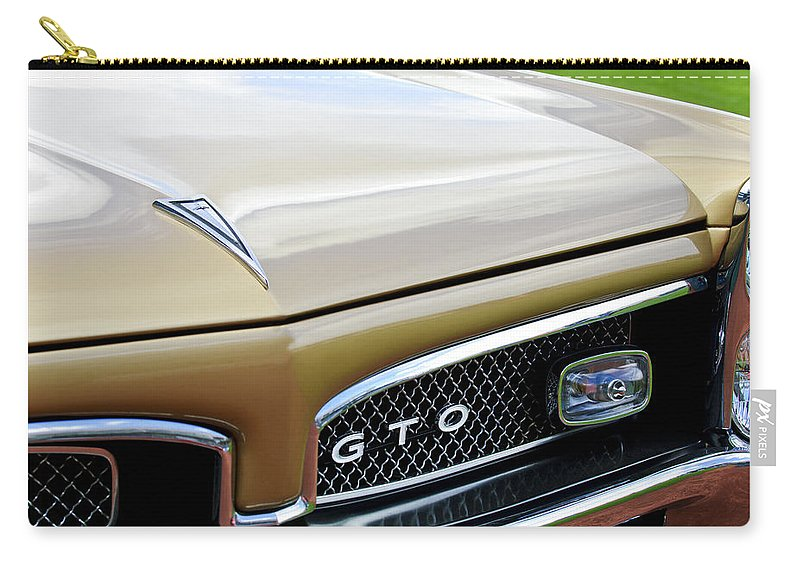 ca9f136ce 1967 Pontiac Gto Grille Emblem 2 Carry-all Pouch for Sale by Jill Reger
