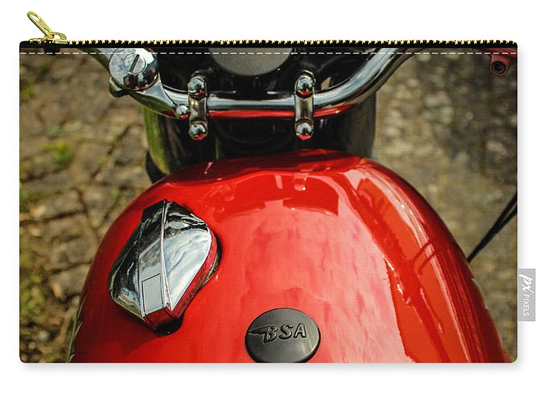 Bsa Motorcycle Carry-all Pouch featuring the photograph 1967 Triumph Spitfire by Rene Triay Photography