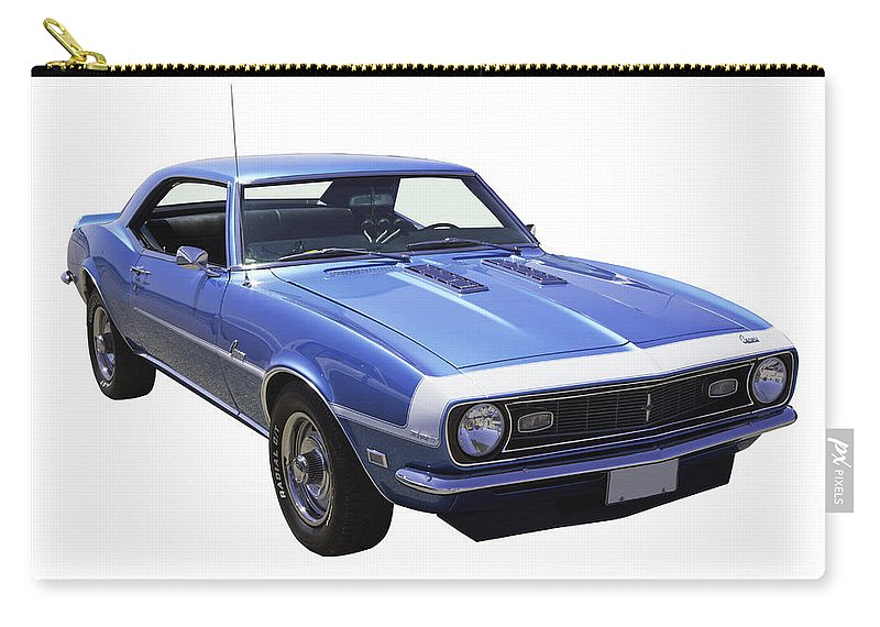 Automobile Carry-all Pouch featuring the photograph 1968 Chevrolet Camaro 327 Muscle Car by Keith Webber Jr