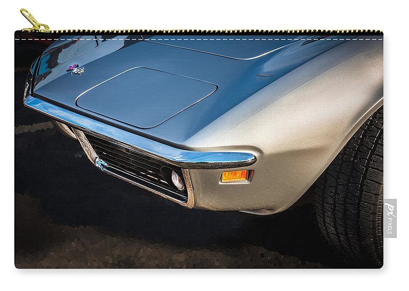 1969 Corvette Carry-all Pouch featuring the photograph 1969 Chevrolet Corvette 427  by Rich Franco