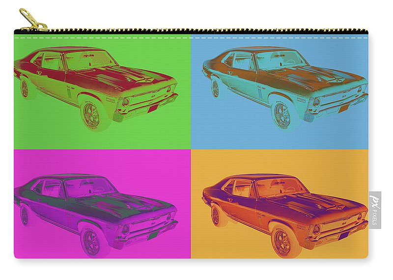Antique Carry-all Pouch featuring the photograph 1969 Chevrolet Nova Yenko 427 Muscle Car Pop Art by Keith Webber Jr