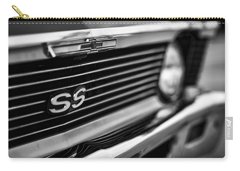 Chevy Carry-all Pouch featuring the photograph 1969 Chevy Nova Ss by Gordon Dean II