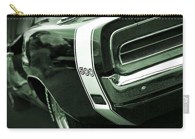 1968 Carry-all Pouch featuring the photograph 1969 Dodge Charger 500 by Gordon Dean II