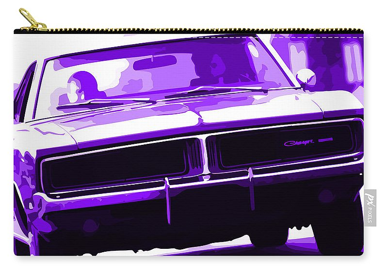 In Carry-all Pouch featuring the photograph 1969 Dodge Charger by Gordon Dean II