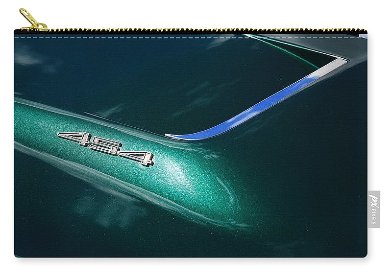 1971 Carry-all Pouch featuring the photograph 1971 Chevy Corvette 454 by Gordon Dean II