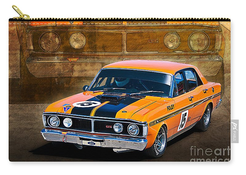 Ford Carry-all Pouch featuring the photograph 1971 Ford Falcon Xy Gt by Stuart Row