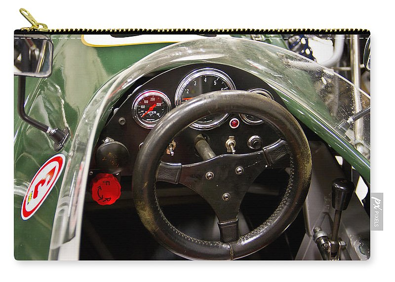 Old Carry-all Pouch featuring the photograph 1977 Tiga Interior-class Open Wheel by Eti Reid