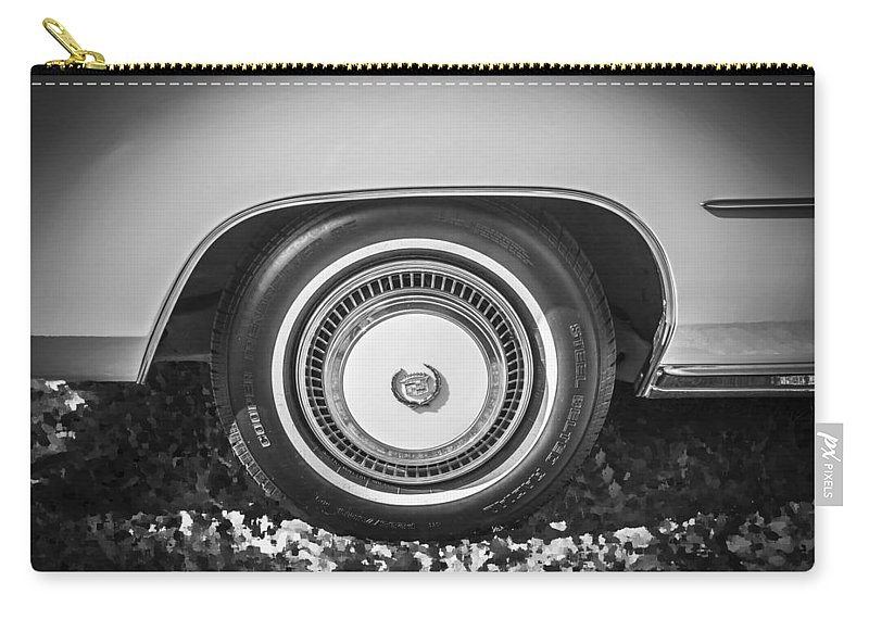 1978 Cadillac Carry-all Pouch featuring the photograph 1978 Cadillac Eldorado Bw by Rich Franco