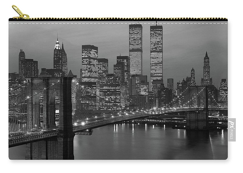 Photography Carry-all Pouch featuring the photograph 1980s New York City Lower Manhattan by Vintage Images