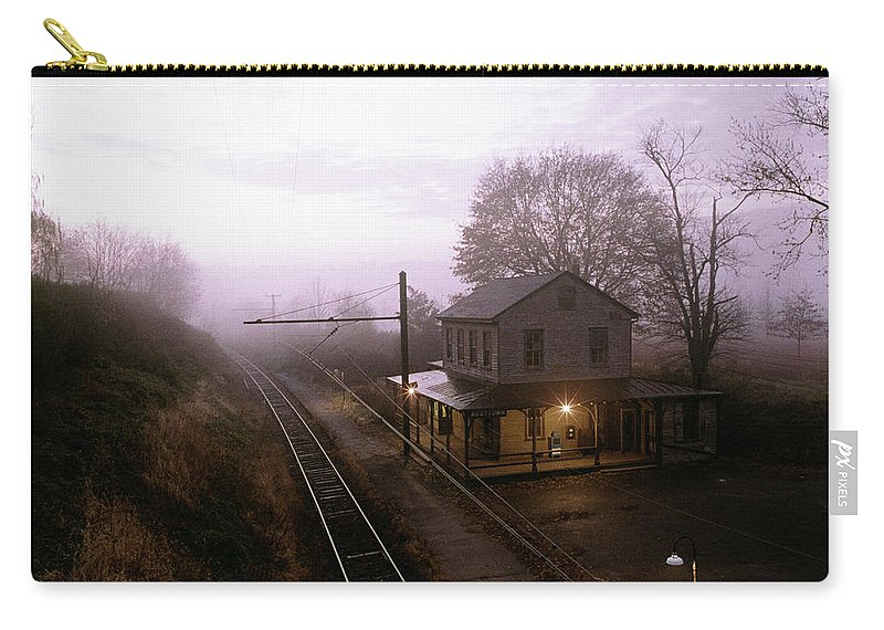 Photography Carry-all Pouch featuring the photograph 1980s Sunrise Morning Light On Westtown by Vintage Images