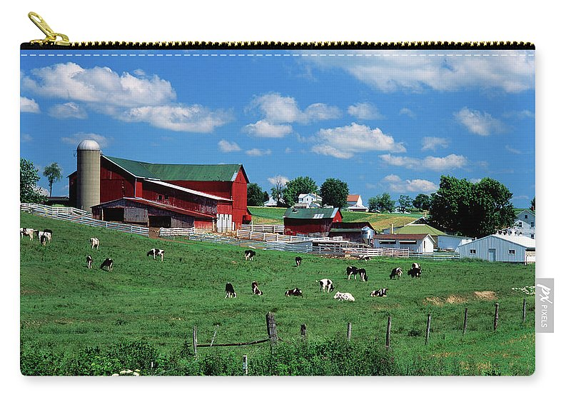 Photography Carry-all Pouch featuring the photograph 1990s Amish Farm Bunker Hill Ohio Usa by Animal Images