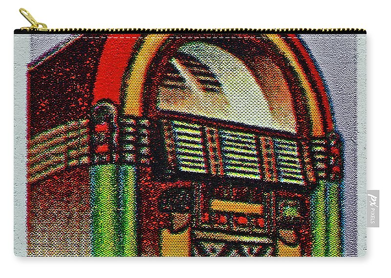 1995 Carry-all Pouch featuring the photograph 1995 Jukebox Stamp by Bill Owen