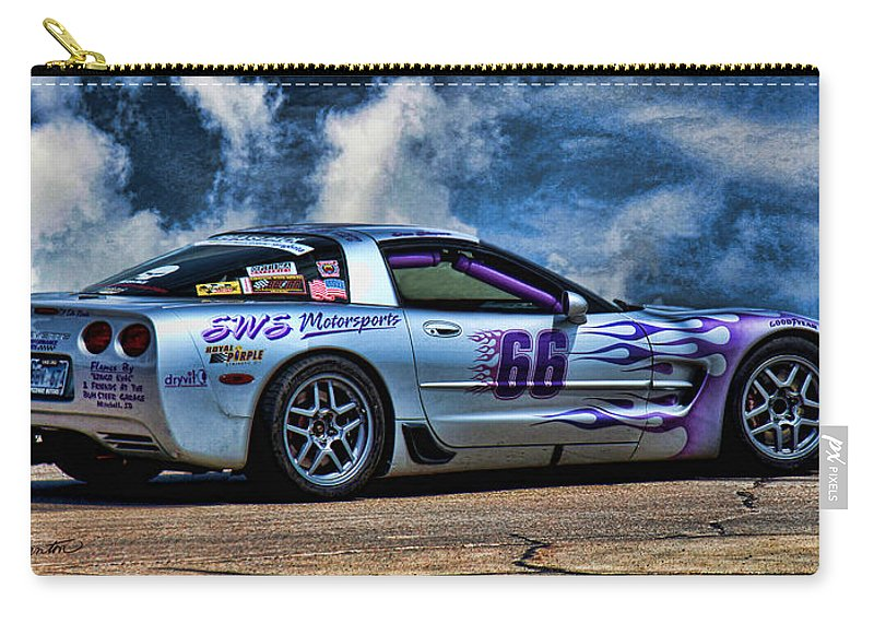1997corvette Carry-all Pouch featuring the photograph 1997 Corvette by Sylvia Thornton