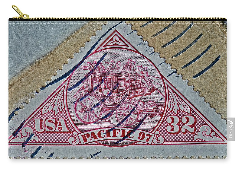 1997 Pacific Carry-all Pouch featuring the photograph 1997 Pacific Stagecoach Stamp by Bill Owen