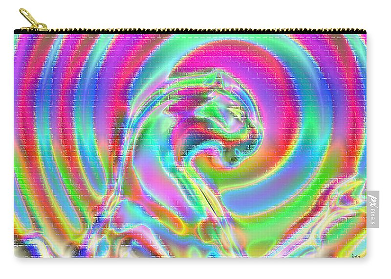 Carry-all Pouch featuring the digital art 1997058 by Studio Pixelskizm