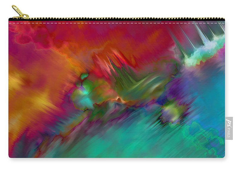 Carry-all Pouch featuring the digital art 1998009 by Studio Pixelskizm