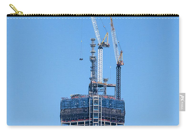 1wtc Carry-all Pouch featuring the photograph 1wtc Antenna Erection by S Paul Sahm