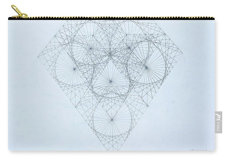 Jason Padgett Carry-all Pouch featuring the drawing Diamond Quanta by Jason Padgett