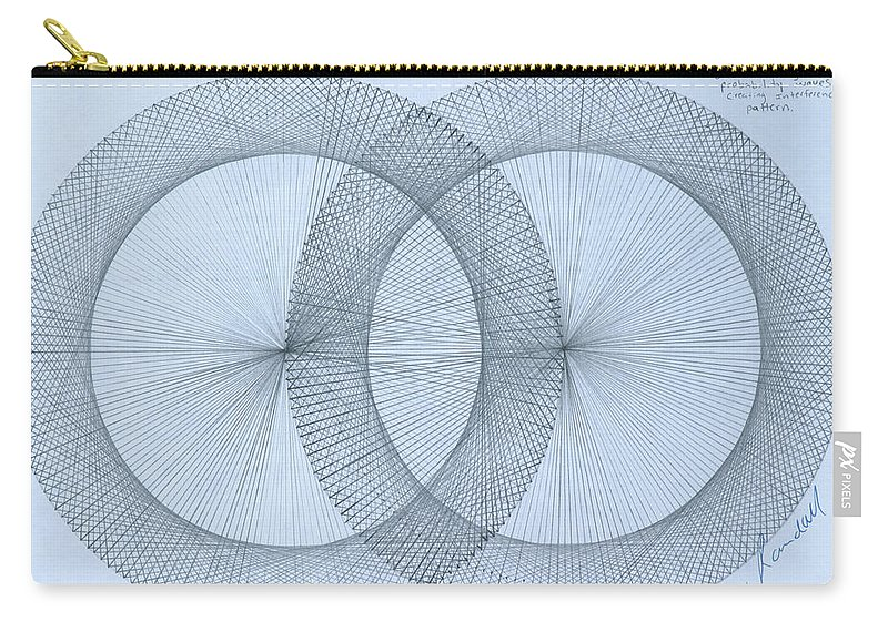 Magnet Carry-all Pouch featuring the drawing  Magnetism by Jason Padgett