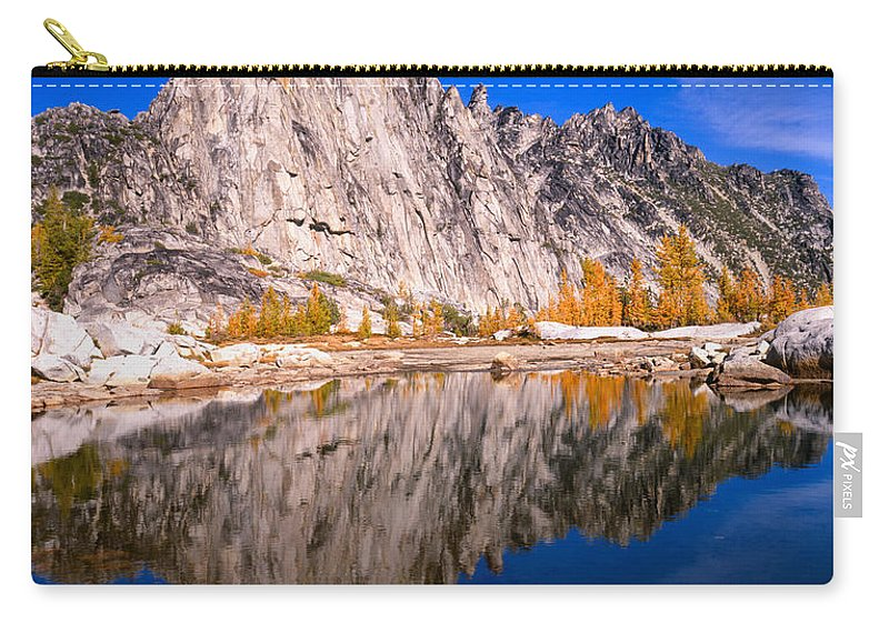 Mountain Carry-all Pouch featuring the photograph Prusik Peak On Gnome Tarn by Tracy Knauer