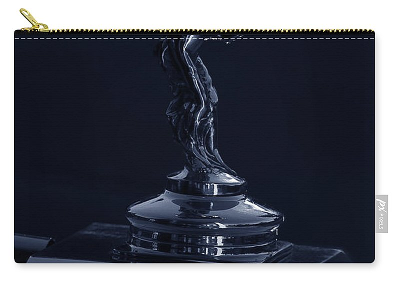 1930 Carry-all Pouch featuring the photograph 1930 Rolls Royce Emblem II by Xueling Zou