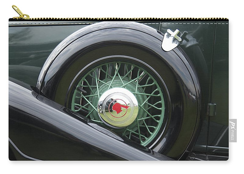 Antique Carry-all Pouch featuring the photograph 1933 Pontiac by Jack R Perry