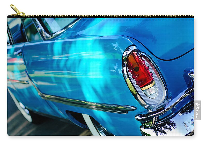 1955 Mercury Monterey Taillight Carry-all Pouch featuring the photograph 1955 Mercury Monterey Taillight by Jill Reger