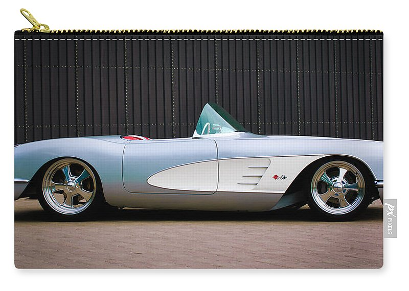 1960 Chevrolet Corvette Carry-all Pouch featuring the photograph 1960 Chevrolet Corvette by Jill Reger