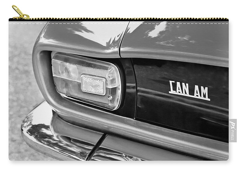 1971 Iso Grifo Can Am Taillight Emblem Carry-all Pouch featuring the photograph 1971 Iso Grifo Can Am Taillight Emblem by Jill Reger