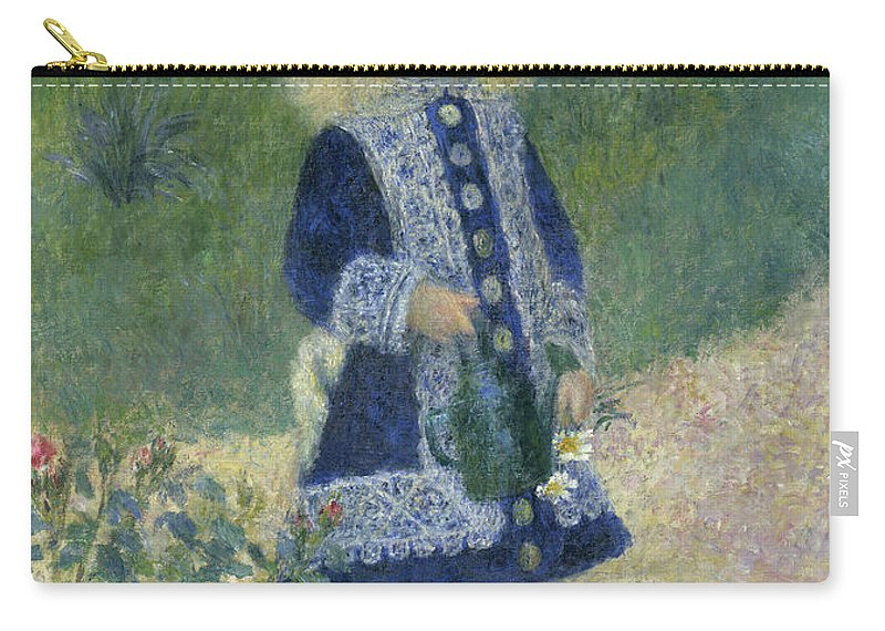Art Carry-all Pouch featuring the painting A Girl With A Watering Can by Mountain Dreams