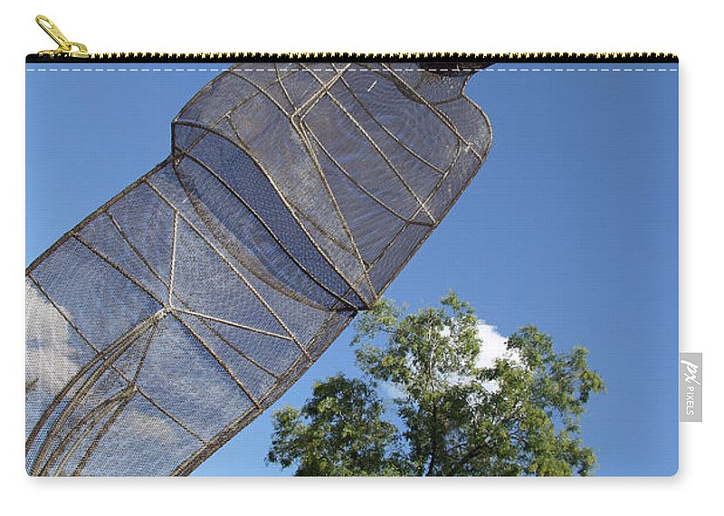 September Carry-all Pouch featuring the photograph Minujin's A Man Of Mesh by Cora Wandel