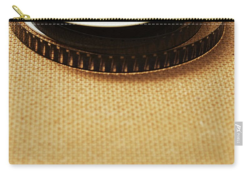 The Media Carry-all Pouch featuring the photograph A Reel, Or Spool, Of 8mm Movie Film by Jon Schulte