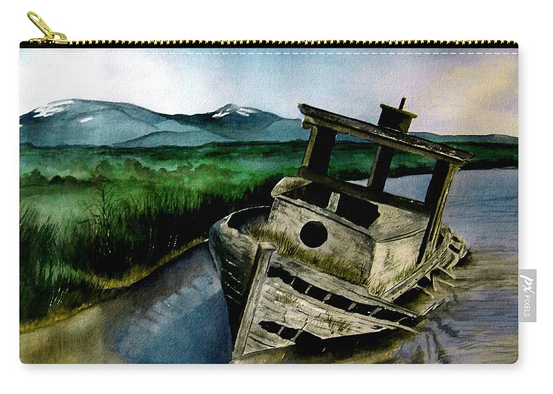 Watercolor Carry-all Pouch featuring the painting Abandoned by Brenda Owen