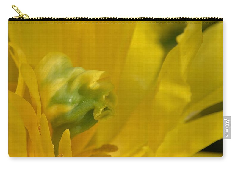 Abstract Parrol Tulip Carry-all Pouch featuring the photograph Abstract Parrot Tulip by Maria Urso